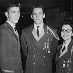 1961 Band Officers - President Gordon Pitman, Vice President George Friel and Secretary-Treasurer Barbara Myers.